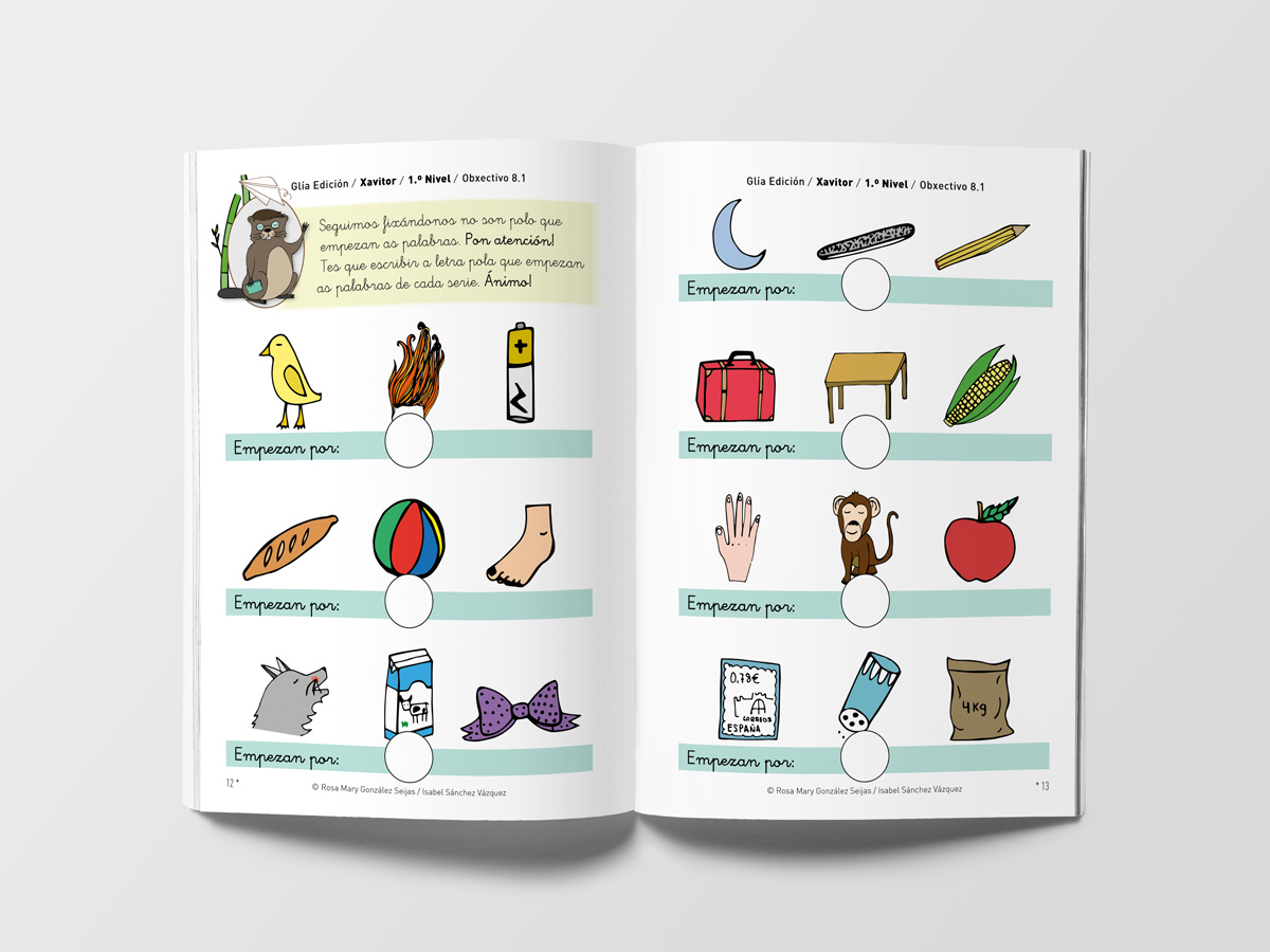 Comprensión e lectoescritura en galego, educación infantil e primaria