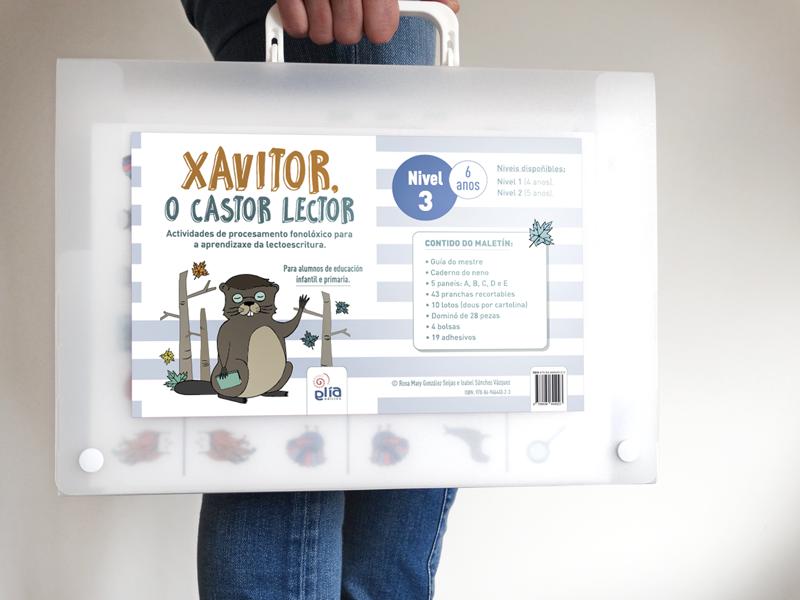 GliaEdicion: Xavitor, o castor lector: Maletín Nivel 3